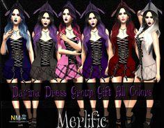 Second Life Merlific Mainstore Davina Dress Gift
