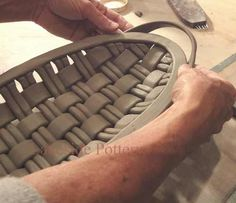 weaving-clay-project using an extruder