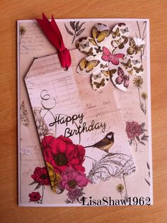 Craftwork Cards; Botanica Butterfly Cards, Flower Cards, Handmade Birthday Cards, Handmade Cards, Craftwork Cards, Hand Stamped Cards, Mix Media, Craft Work, Paper Crafting