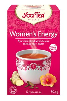 In the interaction of masculine and feminine energies in our lives, feminine power was sometimes underestimated in the past. YOGI TEA® Women's Energy is an enthusiastic and deliciously lively tea thanks to fruity hibiscus, raspberry leaf and angelica root extract, letting us live up to all the wonderful assets within our body.  The essence of this tea is: 'Feminine power'.