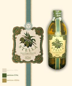 Stella Olive Oil Label by grafikdzine.deviantart.com. Closeup of a lovely #label #packaging PD