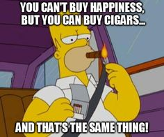 Homer Simpson smoking - tobacco imagery on television influences teens.