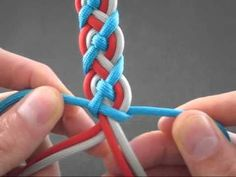 TyingItAllTogether - YouTube.    This guy has a TON of video tutorials on how to tie a lot of different things using only paracord!