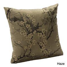 Cherry Blossom Azure Accent Pillow   Overstock.com Shopping - The Best Deals on Throw Pillows