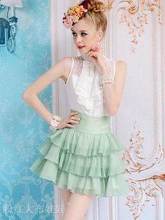 Mango Doll - Layered Chiffon Skirt , $43.00 (http://www.mangodoll.com/new-arrivals/layered-chiffon-skirt/)