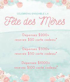 Bénéficiez de notre vente spéciale pour la Fête des Mères! Happy Mothers Day, Baby Store, Ring Sling, The Sea