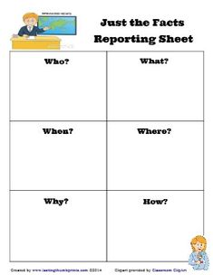 Fun activities to introduce journalism to children. Plus a free printable for the and Writing Activities, Activities For Kids, Fifth Grade Writing, Teacher Worksheets, Kids Reading, Journalism, Literacy, Retelling, Education