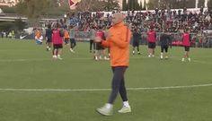 reaction football soccer reactions training roma as roma calcio practice spalletti allenamento luciano spalletti via diggita