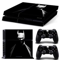 MightyStickers PS4 Wrap Skin Game Console  2 Controller Decal Vinyl Protective Covers Stickers Sony PlayStation 4  DC Comics Super Hero Black Batman Arkham Dark Knight Trilogy Bad Blood -- Want additional info? Click on the image.