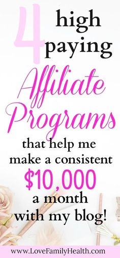 #Blogging 4 High Paying affiliate programs that help me make money each month with my blog!