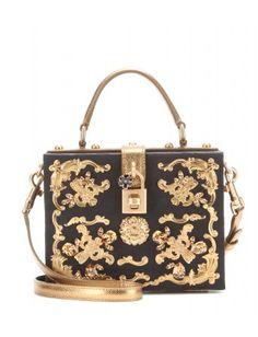 This embellished brocade box clutch by Dolce & Gabbana is prove that a girl really cannot have too many bags.