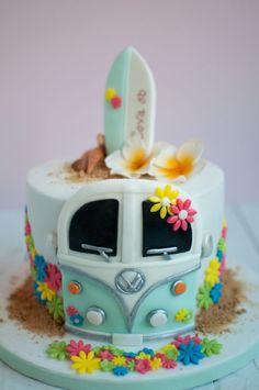 Hippie-surf cake