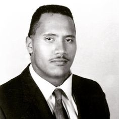 """Masculine:Dwayne 'The Rock' Johnson shared an hilarious insight into his 16-year-old, 6'4"""", 225 lb. self on Wednesday with a picture from his high school year book"""