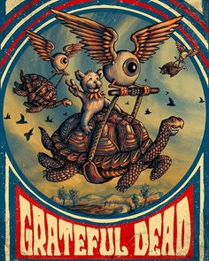 officially licensed Grateful Dead prints by @zeb_love on sale today! atbottleneckgallery.com I hear there are less than 10 prints left... #promisedland @bottleneckgallery! #GratefulDead #posterart #deadheads #flyingeyeball