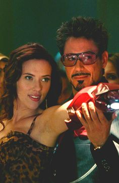 """Tony Stark and Natasha Romanoff (""""Iron Man 2"""")"""