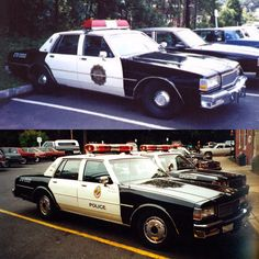 Our Flashback Friday Photos today are two 1989 Chevy Caprice cars. The old decal scheme of a gold shield was replace in 1991 by the design utilizing the township seal. 1989 was one of only a few times that Chevy's were used by the department. Notice this was also prior to 9-1-1.