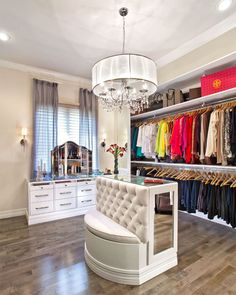 Jewelry Armoires Closet Contemporary with Blue Sheer Curtains Chic Closet Closet Island Closet Remodel Clothes and Shoe Spare Bedroom Closets, Bedroom Wardrobe, Wardrobe Closet, Dream Closets, Extra Bedroom, Closet Vanity, Master Closet, Shoe Closet, Walk In Closet Design