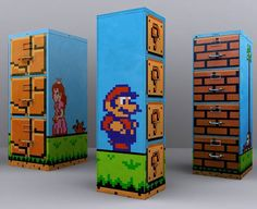 It's the 21st century, and while we are needing bulky filing cabinets less and less, we still need one for keeping a few important documents and papers. And who can deny these uber-cool and uber-geeky Super Mario filing cabinets? #creative