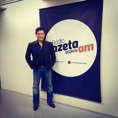 Radio Gazeta AM en Sao Paolo entrevista para el concierto del día 11 de Agosto Carlos Marin en concierto en Sao Paolo / interview in Sao…