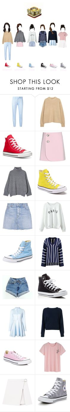 """""""Inkigayo : With You"""" by the1zno ❤ liked on Polyvore featuring Dondup, The Row, Converse, Marni, GRLFRND, WithChic, Boohoo, STELLA McCARTNEY and T By Alexander Wang"""