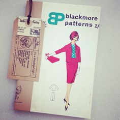 SEWING PATTERN NOTEBOOK - 1960s Vintage pattern packet and instructions hand bound by PulpPaperHeaven on Etsy