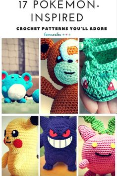 It& no secret that you can never have too many Pokemon-inspired crochet patterns on hand. If you& looking for the perfect DIY gift idea inspired by Pokemon, amigurumi patterns like these will get you started. Crochet Gifts, Cute Crochet, Crochet Dolls, Crochet Yarn, Learn Crochet, Crotchet, Pokemon Crochet Pattern, Amigurumi Patterns, Knitting Patterns