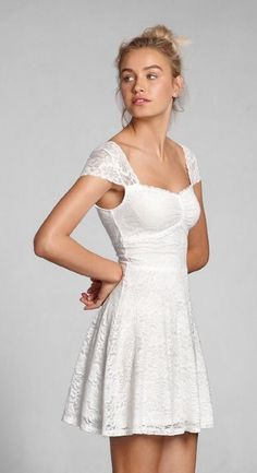 Abercrombie & Fitch white skater dress 2014 collection