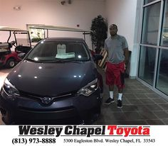 https://flic.kr/p/JkMkT2 | Happy Anniversary to Jovanie  on your #Toyota #Corolla from Luis Veas at Wesley Chapel Toyota! | deliverymaxx.com/DealerReviews.aspx?DealerCode=NHPF