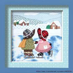 This board has tons of Sunbonnet Sue & Sam! Quilt Patterns Free, Applique Patterns, Applique Quilts, Applique Designs, Embroidery Applique, Machine Embroidery, Sunbonnet Sue, Girls Quilts, Baby Quilts