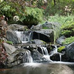 Pond Waterfall, Backyard Waterfall Garden Design, Water Feature Design