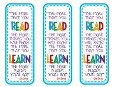 Please feel free to download this bookmark I created for Read Across America Day. I plan on writing a little personalized message for each of my st...