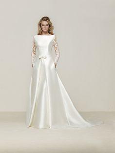Mermaid wedding dress long sleeves - Drales