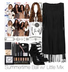 """""""Summertime Ball w/ Little Mix"""" by ana-a-m ❤ liked on Polyvore featuring Topshop, NARS Cosmetics, Office and Forever 21"""