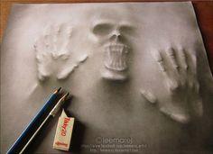 3d art drawing