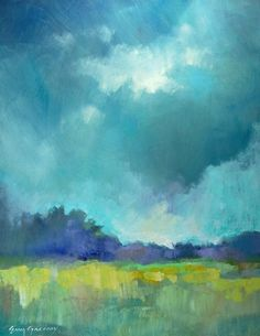 landscape paintings - paintings by erin fitzhugh gregory #NiceBlueSkys