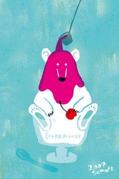 Illustration Sketches, Illustrations And Posters, Food Graphic Design, Postcard Design, Bear Art, Dope Art, Illustrators, Character Design, Kawaii