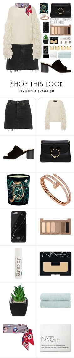 """Fashion Week"" by igedesubawa ❤ liked on Polyvore featuring Topshop, Tabula Rasa, River Island, J.W. Anderson, Cartier, Native Union, Urban Decay, John Masters Organics, NARS Cosmetics and Luv Aj"
