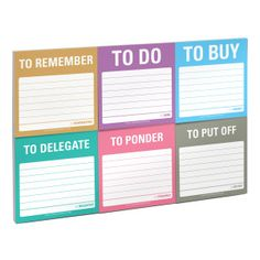 Knock Knock To Accomplish Sticky Note Packet - Official Shop