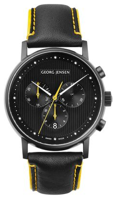 Jensen Koppel 517 Black Edition A gorgeous limited edition watch designed by Henning Koppel.Gorgeous Gorgeous may refer to the physical attractiveness of something. It may also refer to: Stylish Watches, Luxury Watches, Cool Watches, Watches For Men, Fine Watches, Rolex, Men Accesories, Junghans, Limited Edition Watches