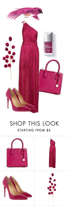 """Red"" by svitilovamonika ❤ liked on Polyvore featuring MICHAEL Michael Kors, Maria Lucia Hohan, Christian Louboutin, Couture Colour, set, red and nomen"