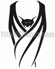 Not a fan of tribal tattoos but I love bats. Especially this! It would mesh perfectly with my Egyptian eye.