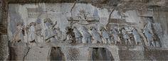 Monument to Darius the Great at Behistun, 'Behistun Inscription' c. 522 - 486 bce, western Iran, limestone cliff carving, 50 x 80 feet (330 feet up the cliff face)