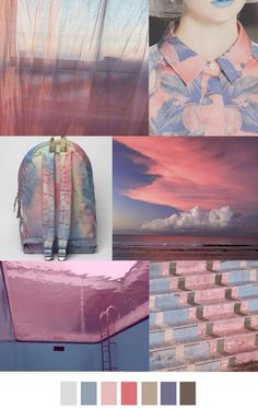 Paleta color nubes de algodón  de azúcar