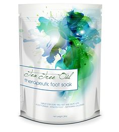 This foot scrub is from Midwest Sea Salt Company and it is made from tea tree oil. It helps with treating athletes foot, nail fungus, and foot odor that is very stubborn. The product helps with scrubb Diy Foot Soak, Foot Soaks, Dry Cracked Heels, Cracked Skin, Foot Remedies, Toenail Fungus Treatment, Foot Odor, Coconut Oil For Skin, Tea Tree Oil