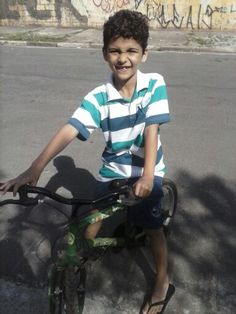 Aprendeu andar de bicicleta
