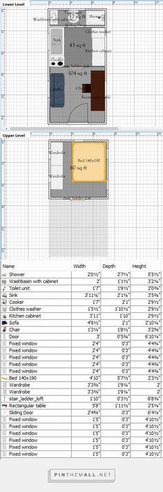 Free Tiny House Floor Plans: 8' x 16' Floor Plan