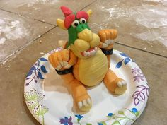 Super Smash Bros Party Fondant Bowser