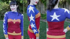 This Wonder Woman Sweater Pattern Is A Great Excuse To Take Up Knitting