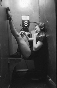 1950's Ballerina in phone booth