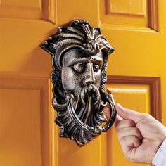 Sutherland House Greenman Authentic Foundry Iron Door Knocker #sustainablearchitecture